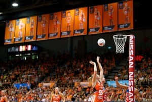 Briton Jo Harten playing for the Sydney Giants earlier this month