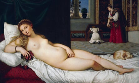 A detail from Venus of Urbino by Titian (c1534).