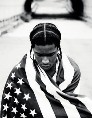 "A$AP Rocky, Harlem, 2012. Says photographer Phil Knott: ""When I was hired to shoot Rocky's album cover, I decided it was important to shoot with him in his neighbourhood in Harlem. I went location scouting along 127th Street, where I met one of A$AP Rocky's boys. We walked around for a while and I remember there being some talk of a bridge scene from the movie Juice that was shot nearby many years earlier. Even though these guys were babies when that film was made, it still resonated with them and had become this stuff of urban lore."""