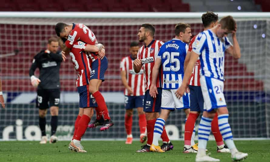 La Liga Title In Sight For Atletico Madrid After Win Over Real Sociedad European Club Football The Guardian