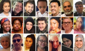 Some of the victims of the Grenfell Tower fire