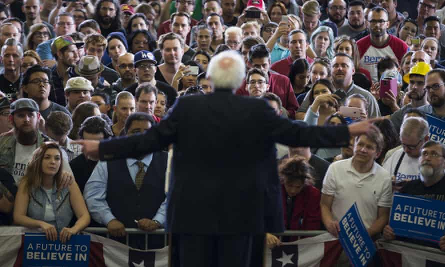 Bernie Sanders makes clear he wants to restore progressive taxation and a higher minimum wage.