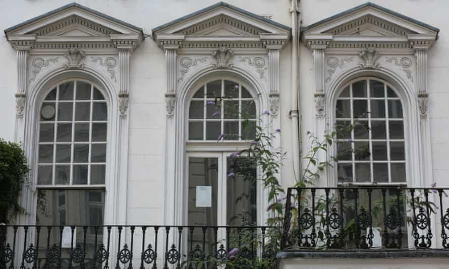 A rundown, empty property in Kensington and Chelsea borough owned by an offshore company.