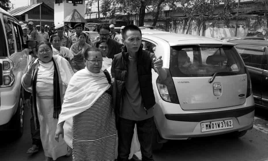 Herojit on his way to the high court in Imphal