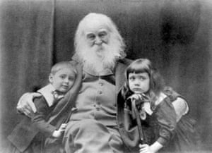Walt Whitman photographed with Nigel and Jeanette Cholmeley-Jones in 1887.
