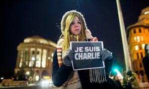 A vigil for the Charlie Hebdo victims