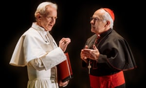 Souls in torment … Pope Benedict (Anton Lesser) and Pope Francis (Nicholas Woodeson) in The Pope.