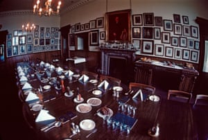The dining room at the Prestwick Golf Club.