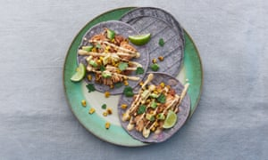 Canny moves: Meera Sodha's jackfruit tacos with fried corn and hot cashew sauce.
