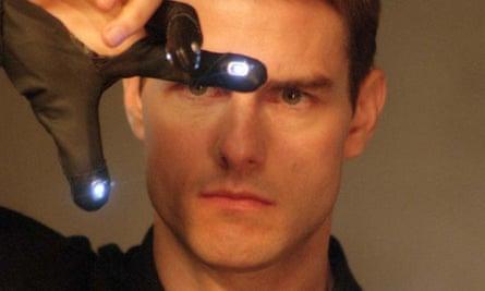 Tom Cruise in Minority Report.