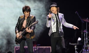 Ronnie Wood and Mick Jagger … setting the Stones rolling.