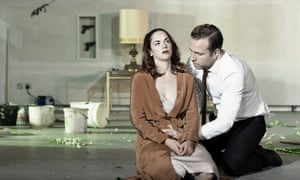 Ruth Wilson as Hedda and Rafe Spall as Judge Brack