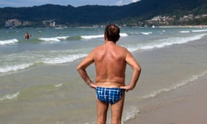 Older man in Speedos