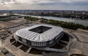 An aerial photograph of Rostov Arena.