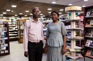Felix Abiodun at the CSS bookshop on Lagos Island