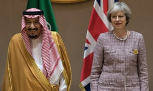 King Salman of Saudi Arabia and Theresa May