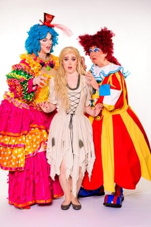 Jonathan Booth, Ellie Pickering and Sean Rollason star in Cinderella.