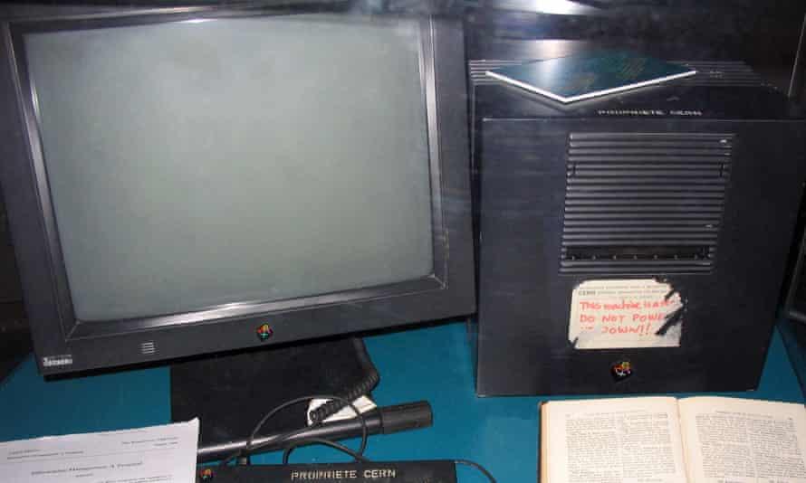 The first web server, originally at CERN in Switzerland.