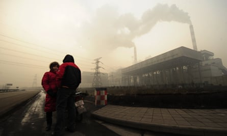 A coal-powered plant on the outskirts of Linfen, in China's Shanxi province