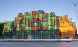 Containers at the port of Antwerp