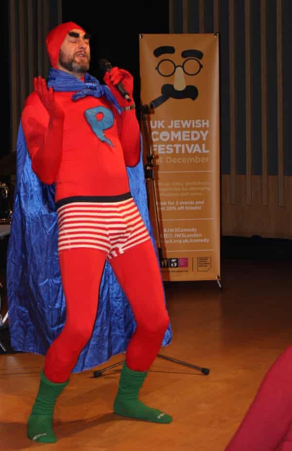 Leo Kearse as Punman at Sol Bernsten's Borscht Belt Cabaret at the UK Jewish Comedy festival.