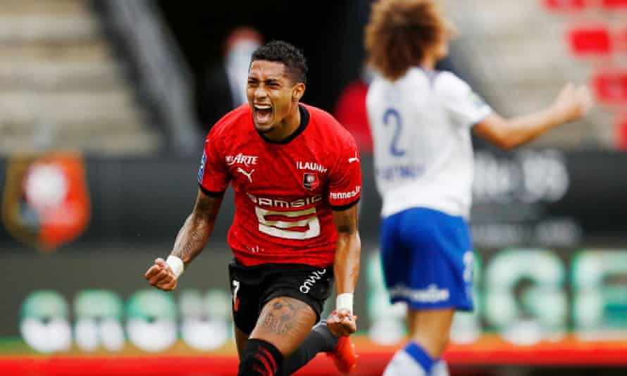 Raphinha has left Rennes, with the Brittany side currently top of Ligue 1.