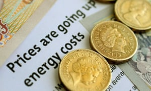 Some coins and an energy bill
