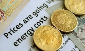 Energy bill and money