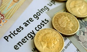 A notice of energy prices going up.