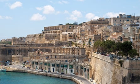 Ancient and modern: Valletta, Malta.
