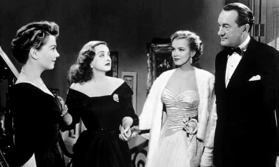 Anne Baxter, Better Davis, Marilyn Monroe and George Sanders in All About Eve.