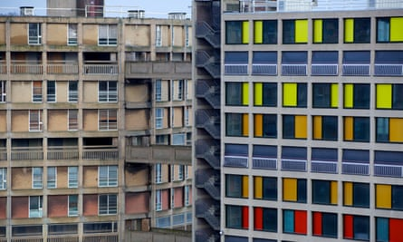 Old and new ... Park Hill estate.
