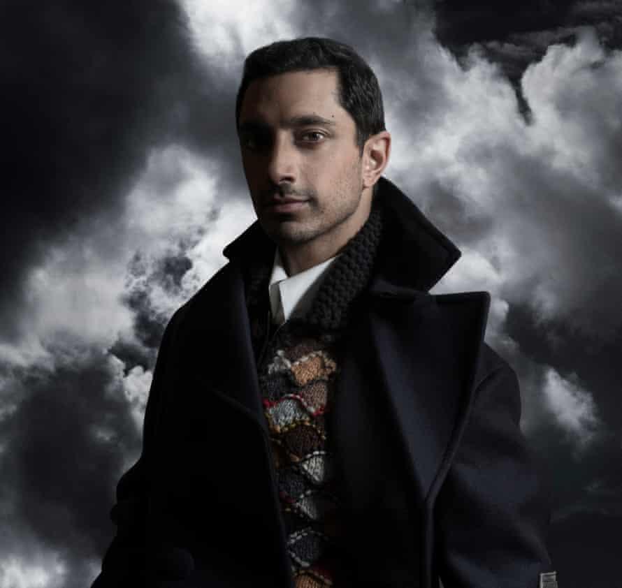Feel the force: Riz Ahmed wears wool coat, cardigan and shirt, all Prada. Stylist Hope Lawrie. Groomer Tara Hickman.