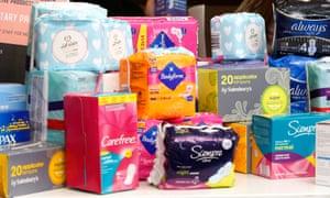 Sanitary products at a food bank