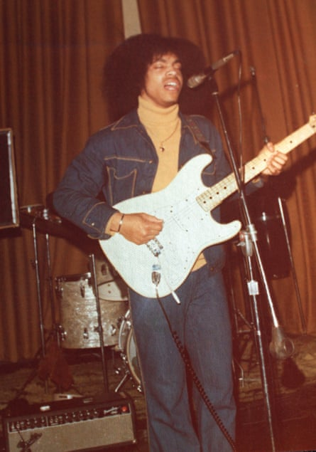 By late high school, Prince wrote, he had bought a 'vanilla stratocaster identical 2 the one Jimi played at Woodstock'.