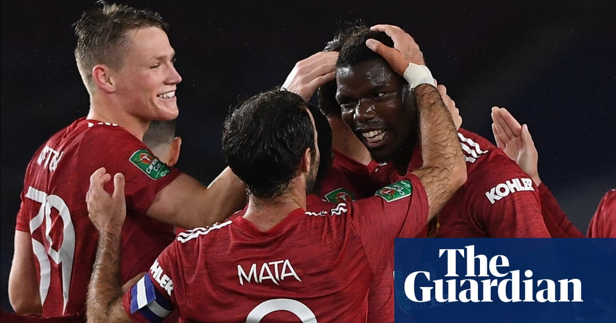 Pogba and Mata send lacklustre Manchester United past Brighton