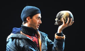 David Tennant as Hamlet, with André Tchaikowsky's donated skull, in the RSC's 2008 production.