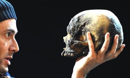 Real or fake? … David Tennant in Hamlet.