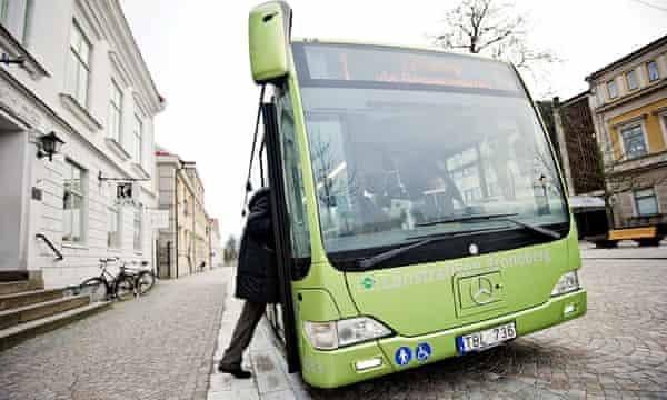 Växjö's municipal buses run on biogas from food waste.