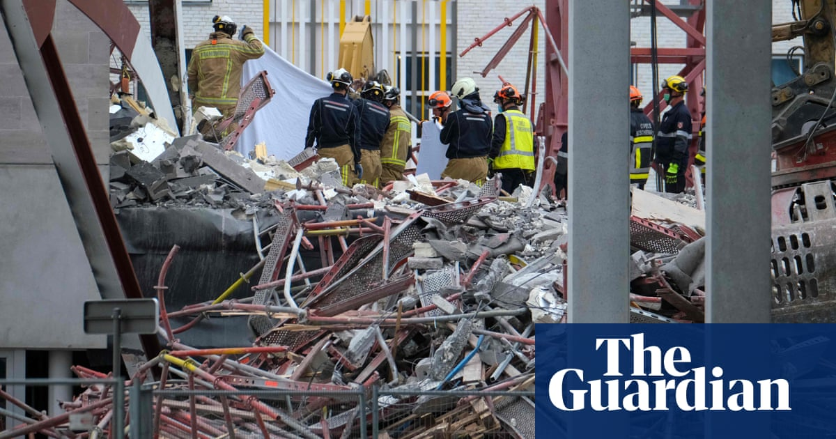 Five construction workers die in Belgium school collapse - the guardian