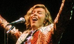 David Bowie at Glastonbury 2000.