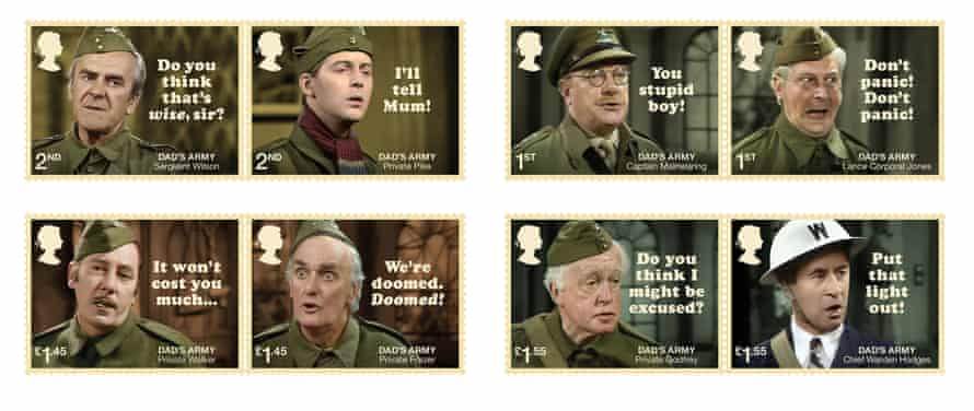 The full set of the Royal Mail's Dad's Army stamps.