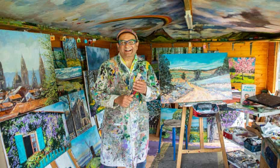 Timmy Mallett in his home studio in Berkshire.