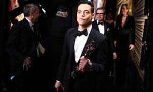 'My story is being written right now' … best actor winner Rami Malek
