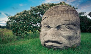 An Olmec colossal head at La Venta, Tabasco, Mexico. Michael Coe's excavations confirmed that Olmec civilisation was more ancient than had been thought.