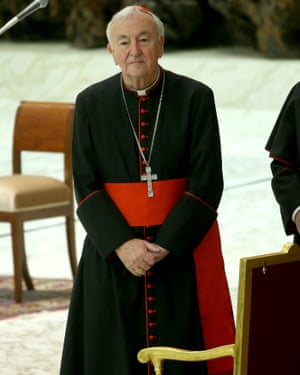 Cardinal Vincent Nichols attends Pope Francis' weekly audience at the Vatican in February