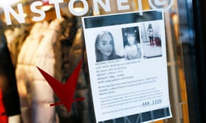 A poster appealing for information about Birna Brjánsdóttir's disappearance.