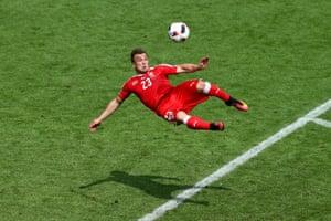 Euro 2016 Picture Of The Day Xherdan Shaqiri S Stupendous Strike Sport The Guardian