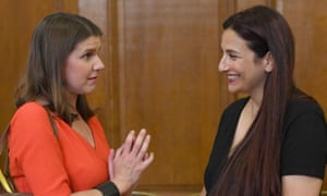Luciana Berger (right) with the Liberal Democrat leader Jo Swinson.