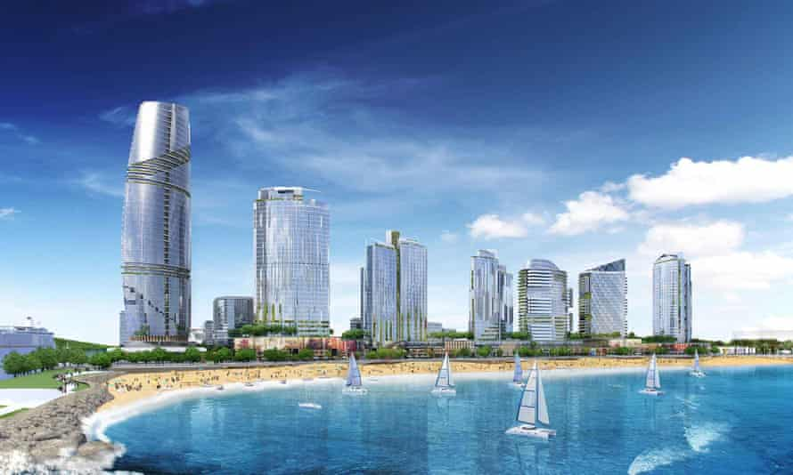 A render of the Durban Point development.